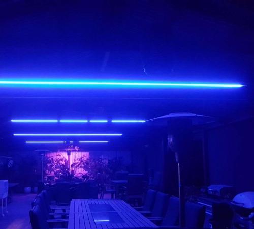Blue Outdoor Lighting